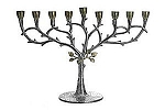 Classic Touch 14 in. Leaf Design Menorah