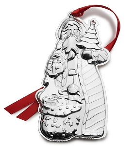 Wallace 2018 Sterling Santa Ornament - 2nd Edition
