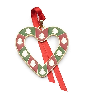 Wallace 2018 Gold-plated & Enameled Wonders of Christmas (Heart w/Trees) 9th Edition