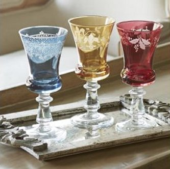 Arte Italica Colored Glassware