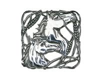 Arthur Court Trivet - Horse with Wheat