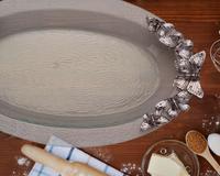 Arthur Court Glass Platter - Butterfly