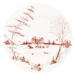 Juliska Country Estate Winter Frolic Ruby Dinner Plate Christmas Eve