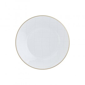 Prouna Alligator White Salad Plate