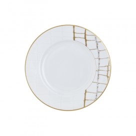 Prouna Alligator Gold Salad Plate Crystals