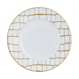 Prouna Alligator Gold Dinner Plate