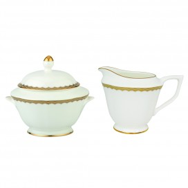 Prouna Antique Gold Sugar & Creamer Set