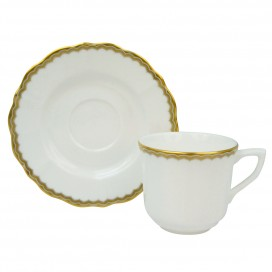 Prouna Antique Gold Espresso Cup & Saucer