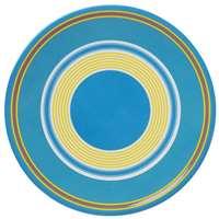 Dansk CABANA STRIPE BLUE dinner plate MELAMINE
