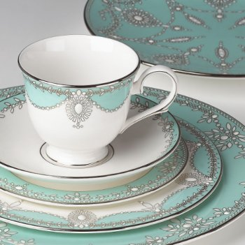 Marchesa by Lenox EMPIRE PEARL TURQUOISE