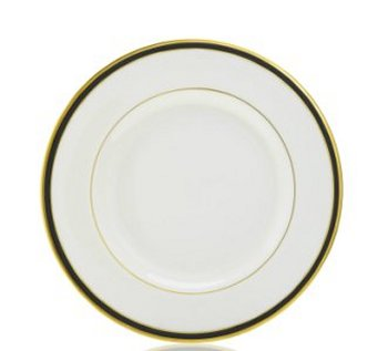 Pickard Ivory Black Gold Rim