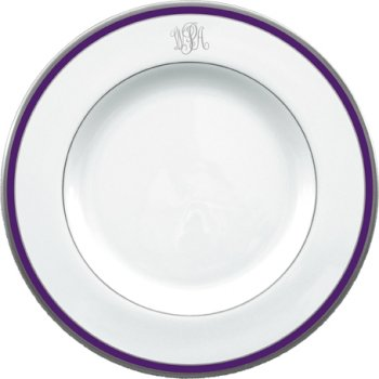 Pickard White Purple Platinum Rim