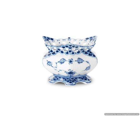 Royal Copenhagen BLUE FLUTED FULL LACE SUGAR BOWL