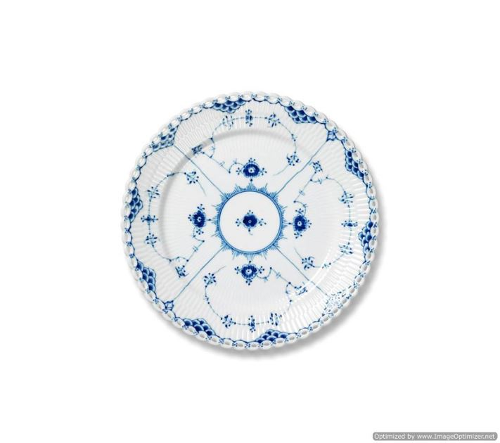 Royal Copenhagen BLUE FLUTED FULL LACE DESSERT PLATE 7.5