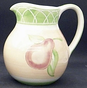 Royal Worcester Evesham Orchid Pitcher