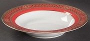 Christian Dior China Ambassadior Red Rim Soup