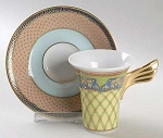 Versace Retired Russian Dream Demitasse Cup And Saucer