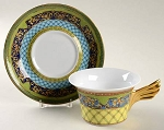 Versace Retired Russian Dream Low Cup and Saucer