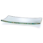 Annieglass Slab Gold 15 1/2 x 8 in.   slab tray