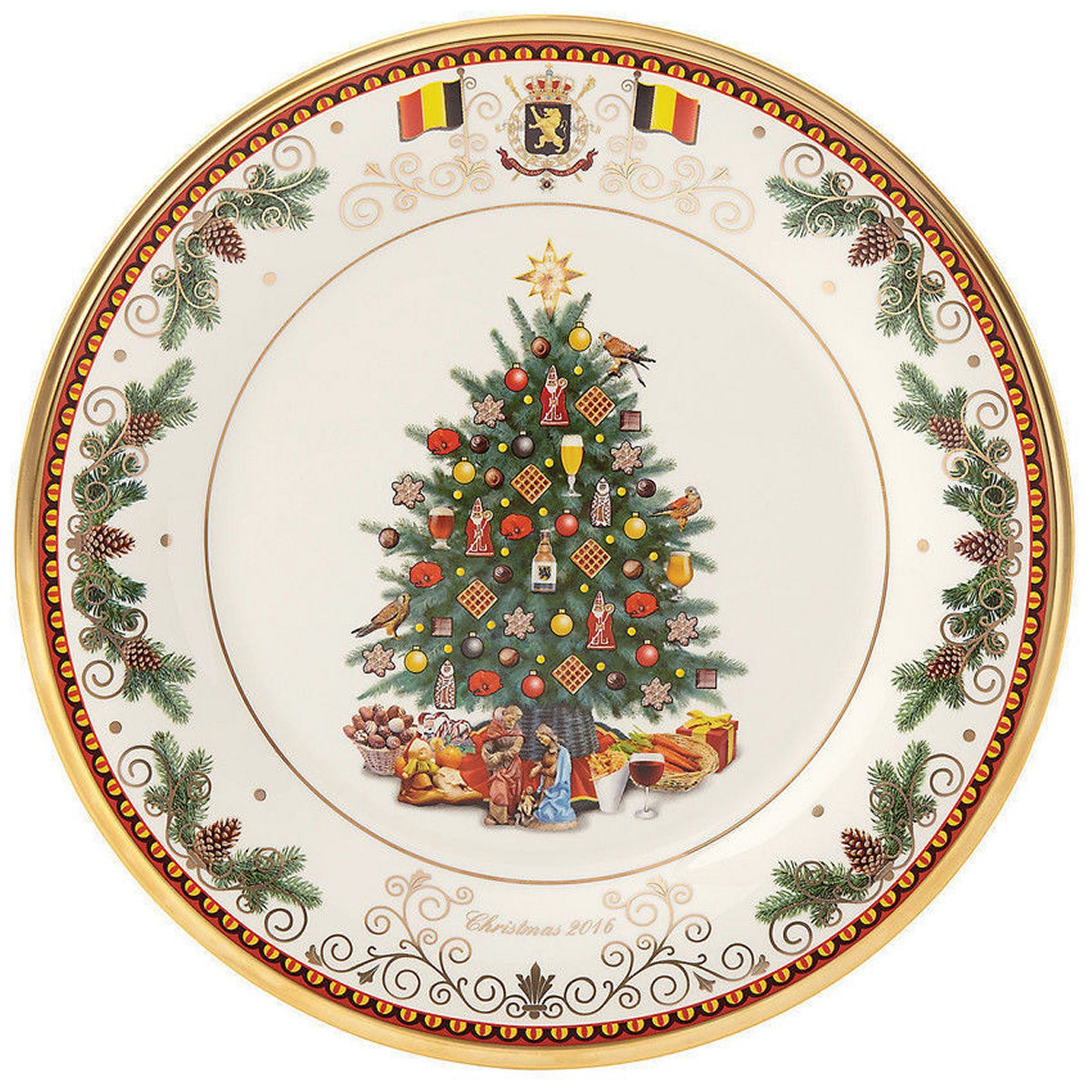 Lenox 2016 Trees Around The World Belgium Plate