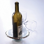 Annieglass Edgey 8 1/2'' wine coaster/candle holder