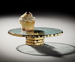 Annieglass Edgey 9 1/2 in.  cupcake stand