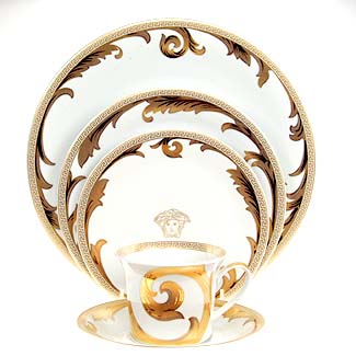 Versace Arabesque Gold Dinnerware Selections