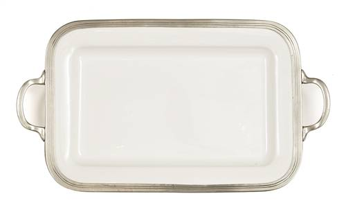 Arte Italica Tuscan Rectangular Tray with Handles 20.75