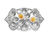 Arthur Court Deviled Egg Holder - Fleur-De-Lis