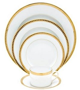 Bernardaud Athena Gold 5 Pc Setting