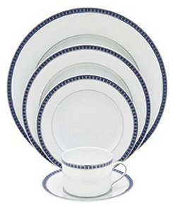 Bernardaud Athena Platinum Navy 5 Pc Setting