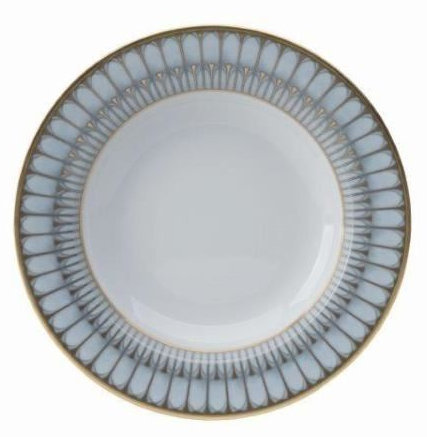 Philippe Deshoulieres Arcades grey & matte gold soup cereal plate