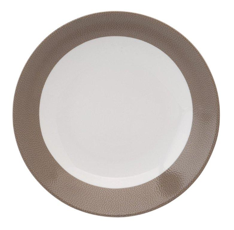 Philippe Deshoulieres Seychelles taupe deep cereal plate