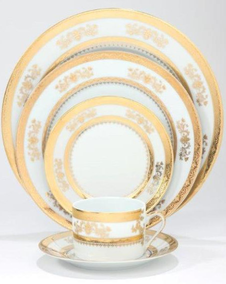 Philippe Deshoulieres Orsay white rim soup plate