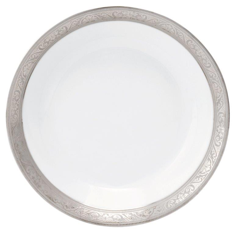 Philippe Deshoulieres Trianon platinum soup/cereal plate