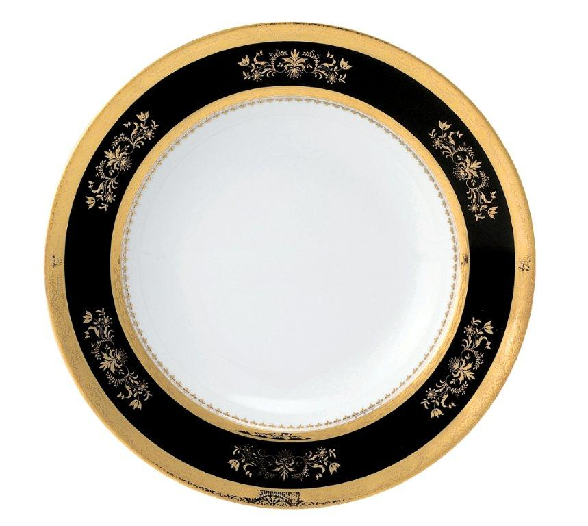 Philippe Deshoulieres Orsay black dessert plate