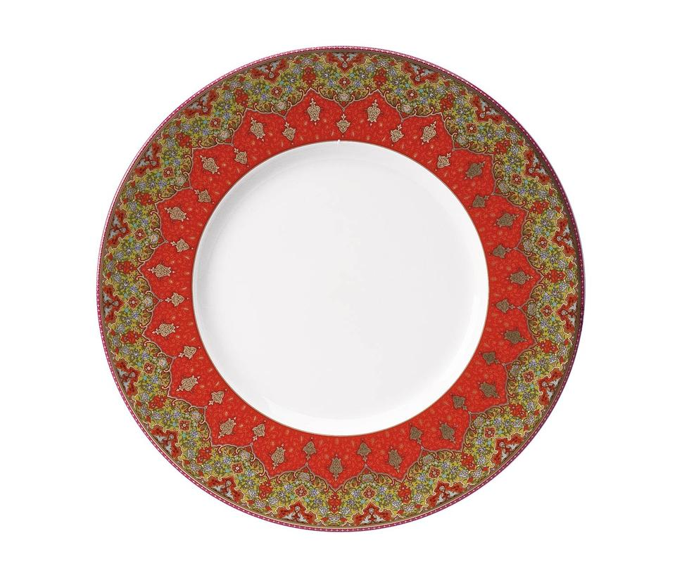 Philippe Deshoulieres Dhara red dinner plate