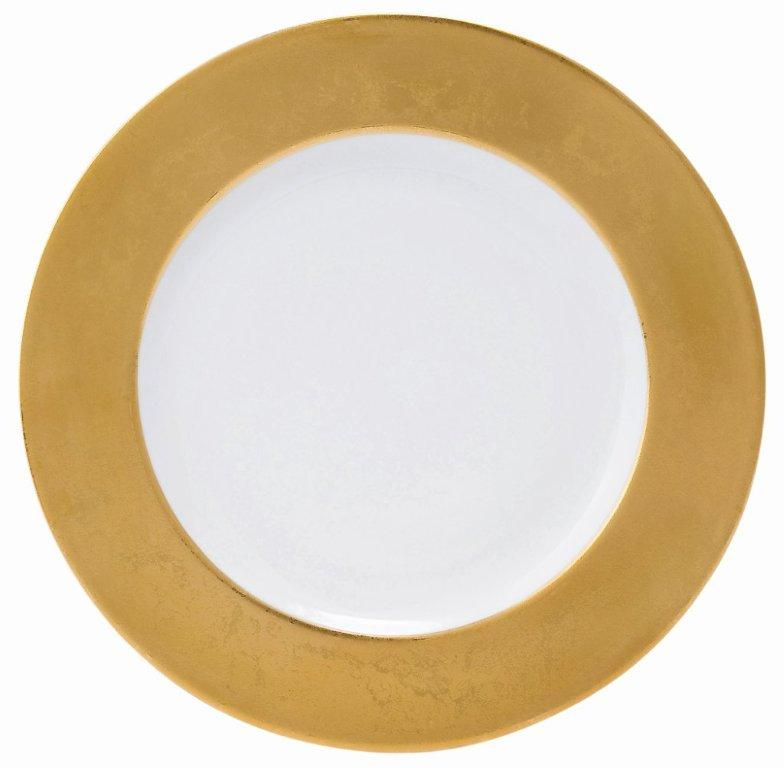 Philippe Deshoulieres Presentation plates Les Indiennes Indienne carat gold white center
