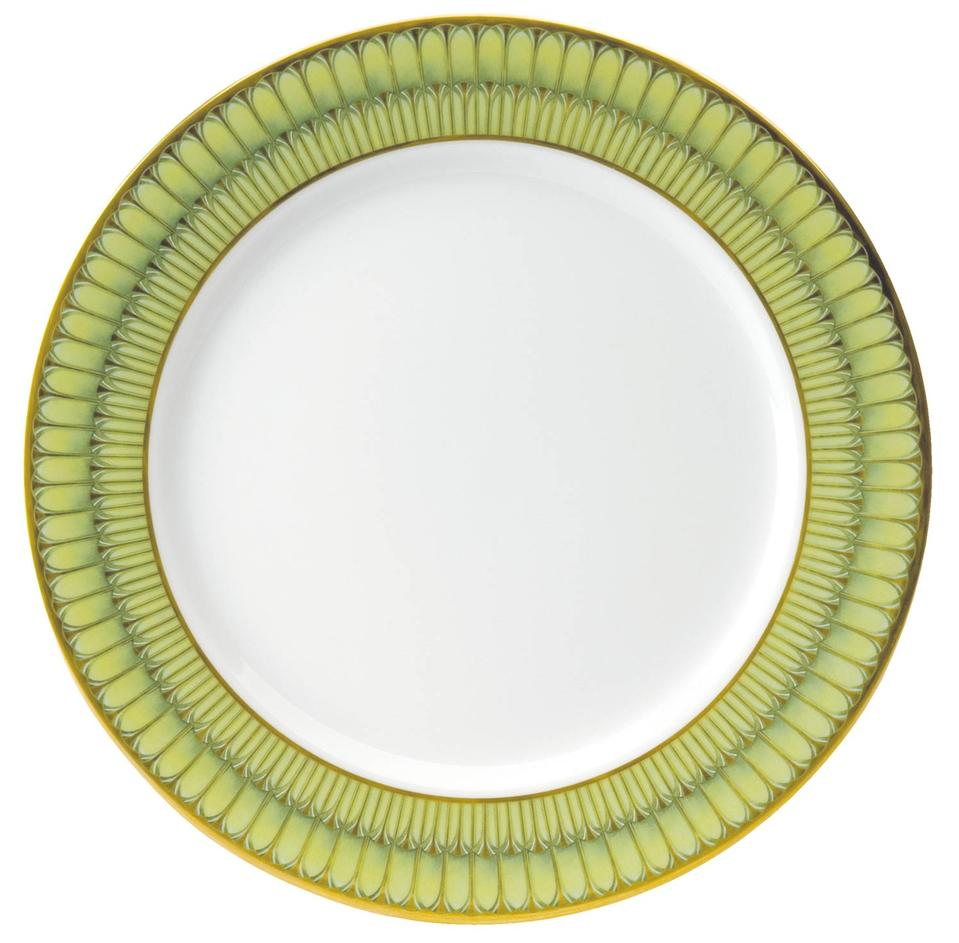 Philippe Deshoulieres Arcades green serving plate