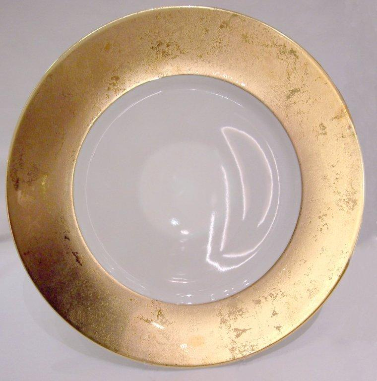Philippe Deshoulieres Presentation Large plates Les Indiennes Carat gold white center