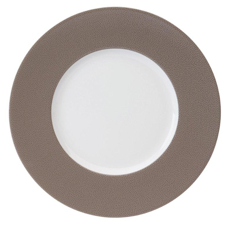 Philippe Deshoulieres Seychelles taupe presentation plate