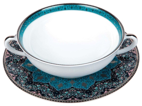 Philippe Deshoulieres Dhara Peacock cream soup cup