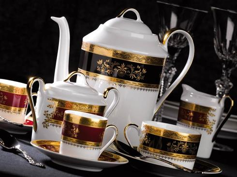 Philippe Deshoulieres Orsay black cream soup cup