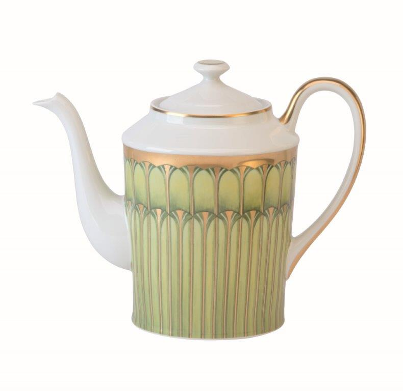 Philippe Deshoulieres Arcades green round coffee pot