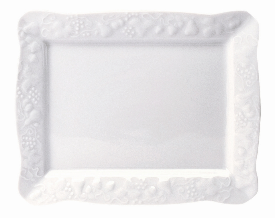 Philippe Deshoulieres Blanc De Blanc rectangular tray small