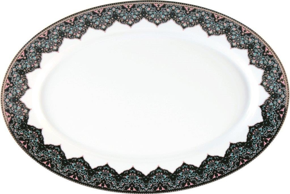 Philippe Deshoulieres Dhara Peacock oval platter