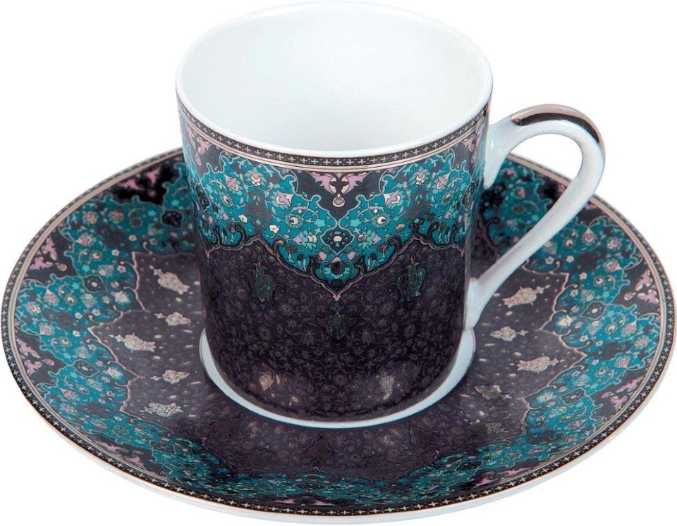 Philippe Deshoulieres Dhara Peacock coffee saucer