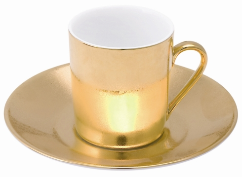 Philippe Deshoulieres Carat gold coffee saucer