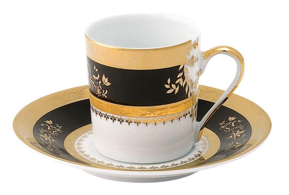 Philippe Deshoulieres Orsay black coffee saucer