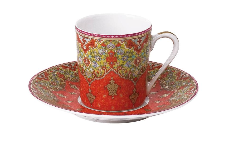 Philippe Deshoulieres Dhara red coffee saucer